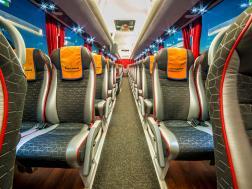 Interior in MAN bus