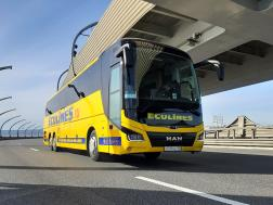 Ecolines bus on bridge