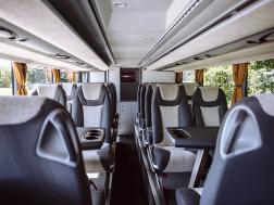 Interior onboard Setra bus