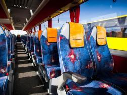 Interior on bus
