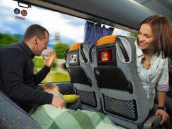 Entarteinment onboard ECOLINES bus