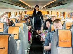 Interior onboard ECOLINES bus