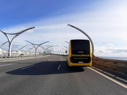 Bus on a road #1