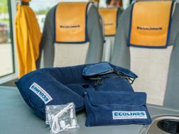 Додатковий сервіс в автобусах ECOLINES: подушки під голову, навушники.
